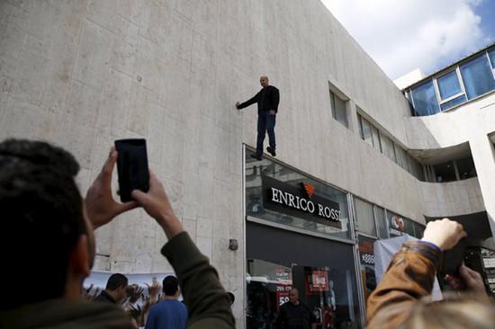 大活人悬浮 以色列魔术大师表演 悬浮大楼外24小时