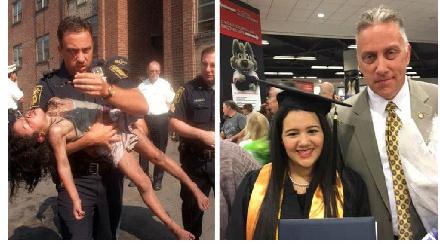 女孩邀请18年前救命恩人参加大学毕业典礼