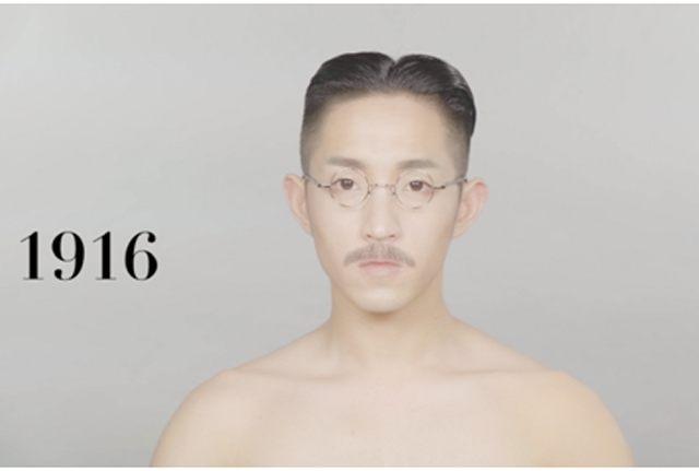 年轻男子做出横跨100年发型走红 很形象